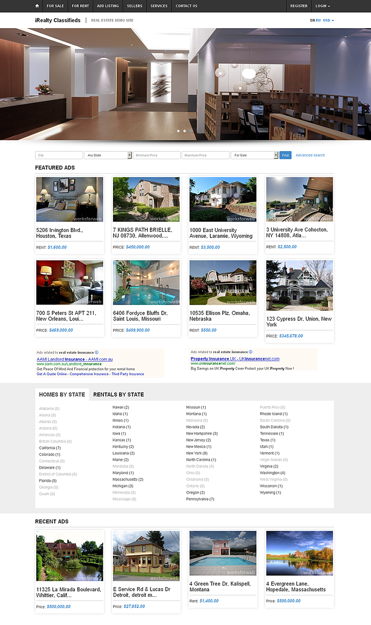 Responsive Template of iRealty
