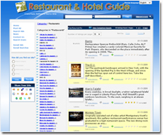 iLister-Based Restaurant and Hotel Guide Website