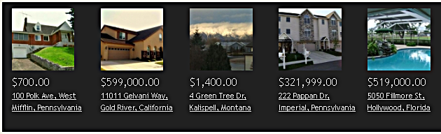 iRealty Real Estate Script: Featured Listings on the Front Page Feature