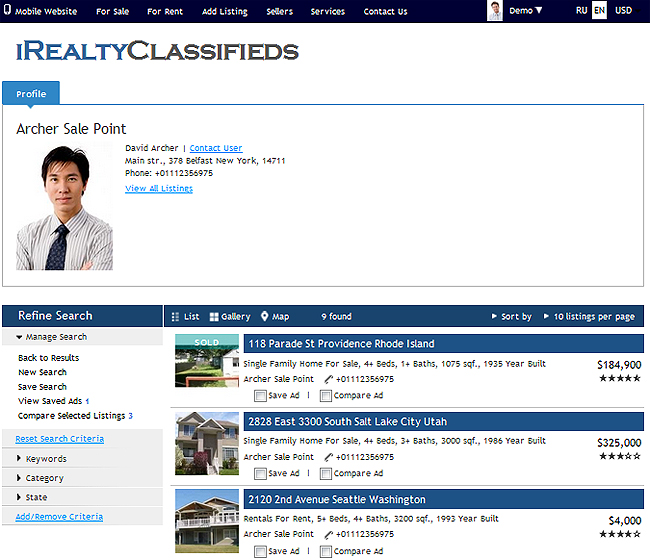 iRealty Real Estate Script: Agent Inventory Feature